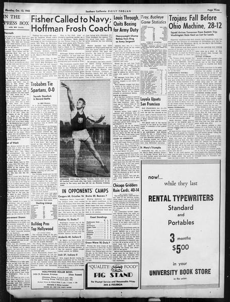Daily Trojan, Vol. 34, No. 17, October 12, 1942