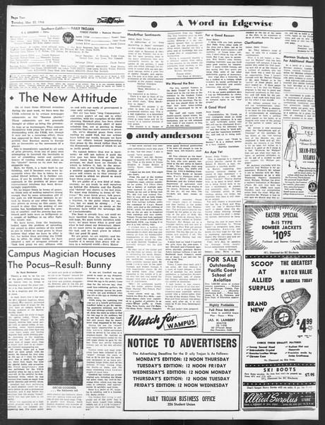 Daily Trojan, Vol. 39, No. 105, March 23, 1948