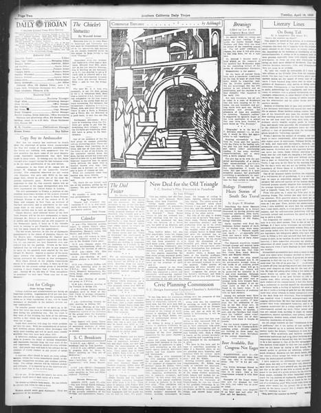 Daily Trojan, Vol. 24, No. 125, April 18, 1933