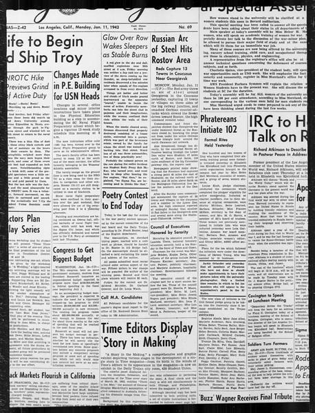 Daily Trojan, Vol. 34, No. 69, January 11, 1943
