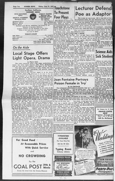Summer News, Vol. 2, No. 3, June 27, 1947