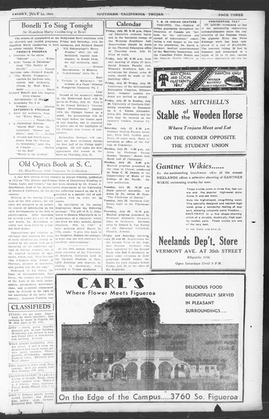 Southern California Trojan, Vol. 11, No. 10, July 22, 1932