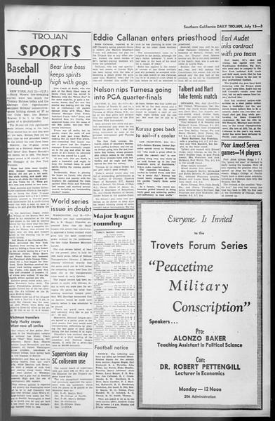 Daily Trojan, Vol. 36, No. 156, July 13, 1945