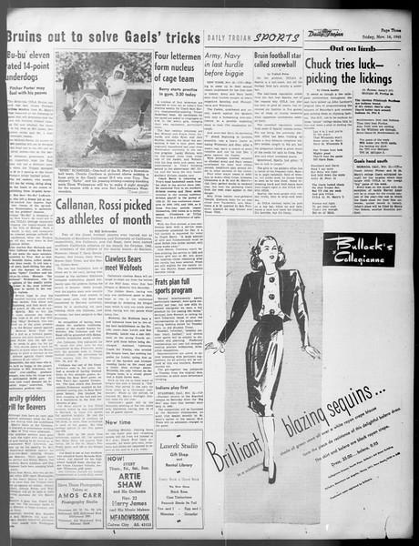 Daily Trojan, Vol. 37, No. 12, November 16, 1945