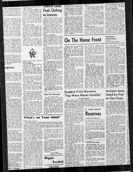 Daily Trojan, Vol. 34, No. 60, December 15, 1942