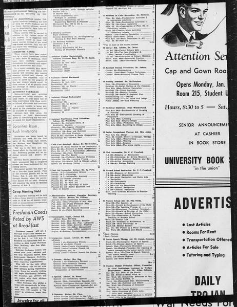 Daily Trojan, Vol. 34, No. 75, January 19, 1943