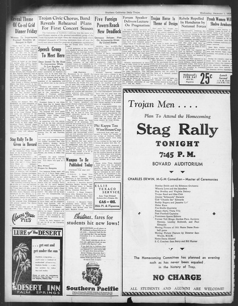 Daily Trojan, Vol. 24, No. 60, December 07, 1932