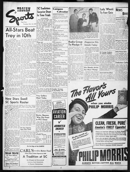 Daily Trojan, Vol. 38, No. 77, February 18, 1947