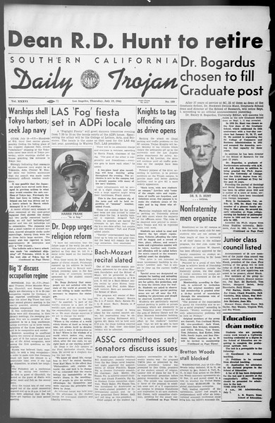 Daily Trojan, Vol. 36, No. 160, July 19, 1945