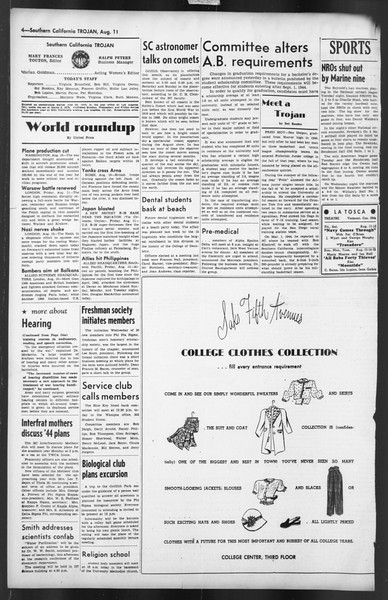 The Trojan, Vol. 35, No. 149, August 11, 1944