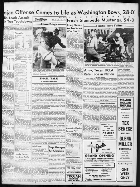 Daily Trojan, Vol. 38, No. 26, October 21, 1946