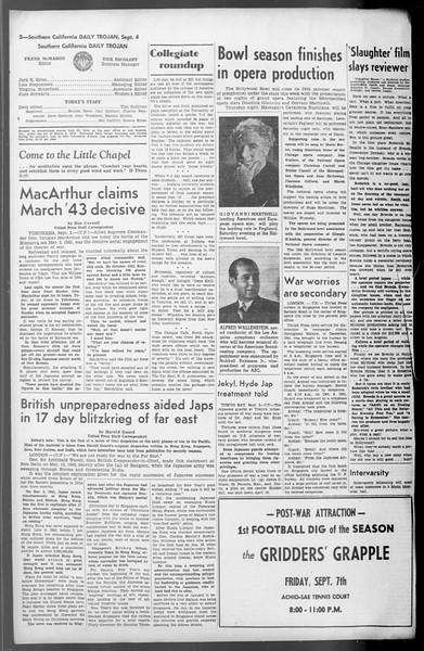 Daily Trojan, Vol. 36, No. 192, September 04, 1945