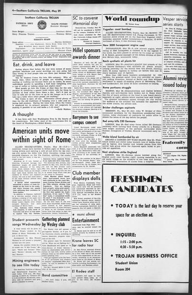The Trojan, Vol. 35, No. 124, May 29, 1944