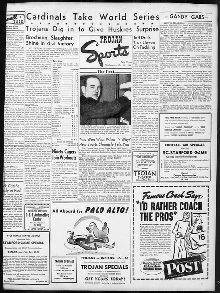 Daily Trojan, Vol. 38, No. 23, October 16, 1946