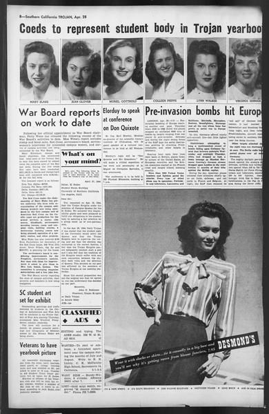 The Trojan, Vol. 35, No. 111, April 28, 1944