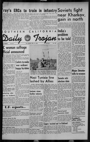 Daily Trojan, Vol. 34, No. 102, March 11, 1943