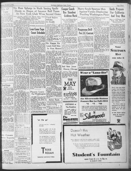 Daily Trojan, Vol. 25, No. 10, October 05, 1933