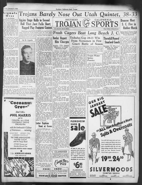 Daily Trojan, Vol. 24, No. 66, January 06, 1933