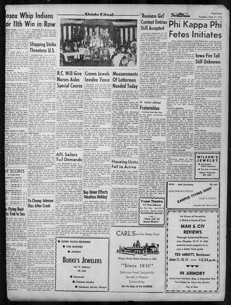 Daily Trojan, Vol. 37, No. 146, June 11, 1946