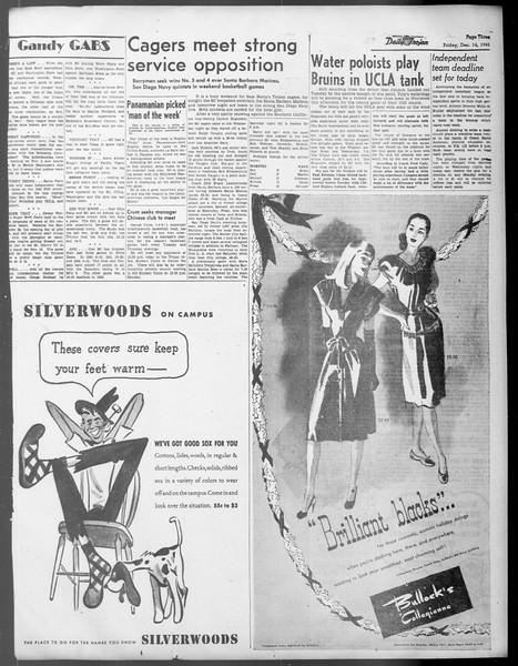 Daily Trojan, Vol. 37, No. 31, December 14, 1945