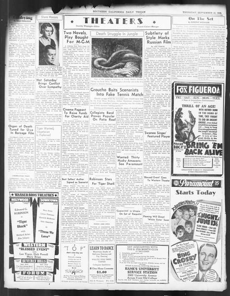 Daily Trojan, Vol. 24, No. 10, September 22, 1932