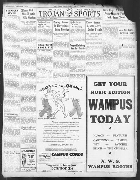 Daily Trojan, Vol. 24, No. 19, October 05, 1932