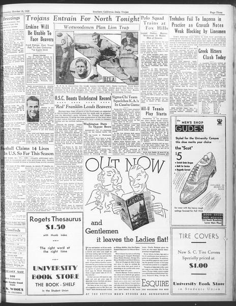 Daily Trojan, Vol. 25, No. 19, October 18, 1933