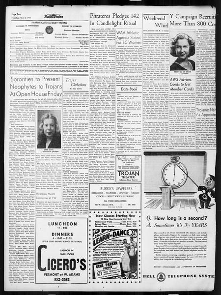 Daily Trojan, Vol. 38, No. 17, October 08, 1946