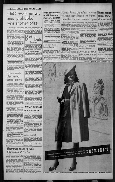 Daily Trojan, Vol. 34, No. 130, April 20, 1943