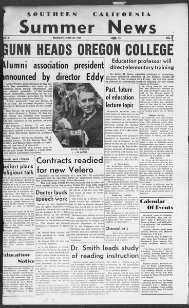 Summer News, Vol. 2, No. 4, June 30, 1947