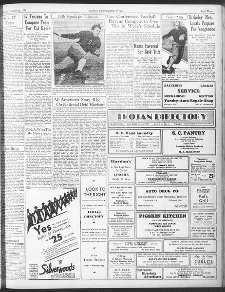 Daily Trojan, Vol. 25, No. 25, October 26, 1933