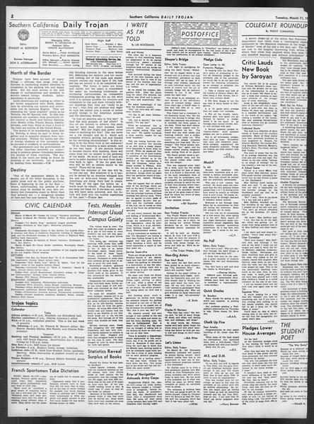 Daily Trojan, Vol. 32, No. 98, March 11, 1941