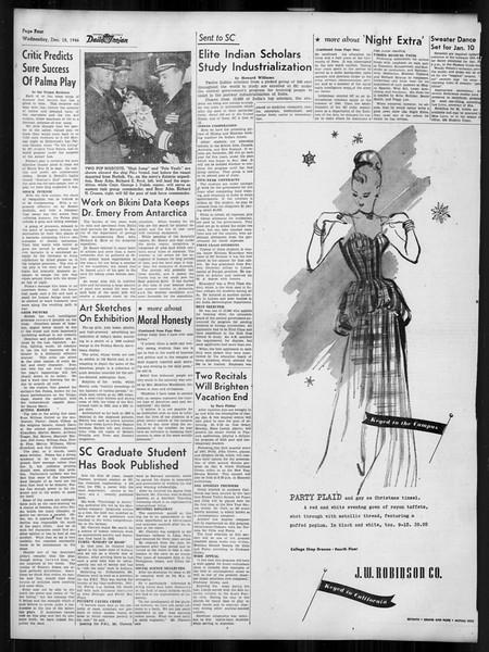 Daily Trojan, Vol. 38, No. 66, December 18, 1946