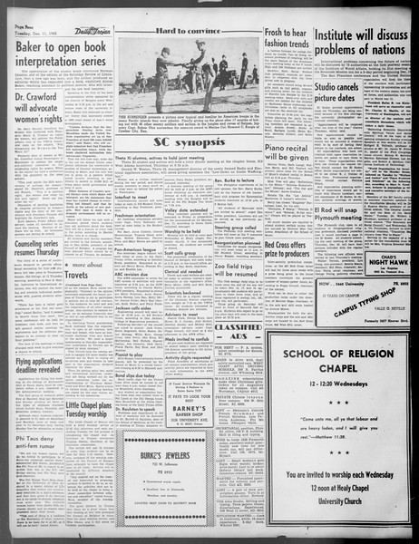Daily Trojan, Vol. 37, No. 28, December 11, 1945
