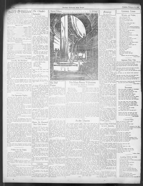 Daily Trojan, Vol. 24, No. 85, February 14, 1933