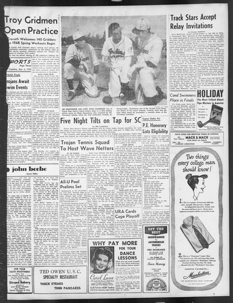 Daily Trojan, Vol. 39, No. 112, April 06, 1948