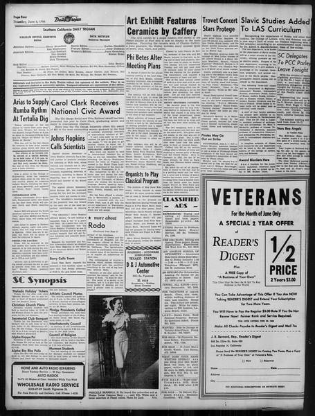 Daily Trojan, Vol. 37, No. 143, June 06, 1946