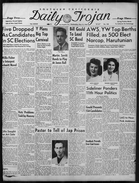 Daily Trojan, Vol. 37, No. 128, May 15, 1946