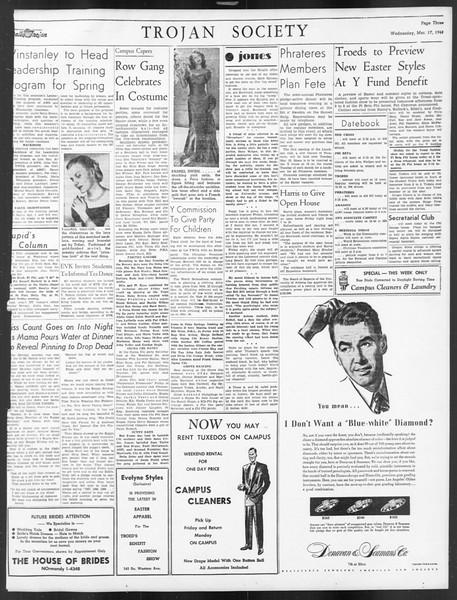 Daily Trojan, Vol. 39, No. 101, March 17, 1948