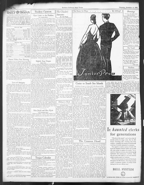 Daily Trojan, Vol. 24, No. 44, November 10, 1932