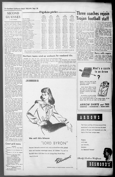 Daily Trojan, Vol. 36, No. 210, September 28, 1945