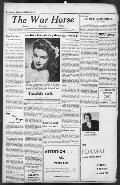The Trojan, Vol. 35, No. 172, October 04, 1944
