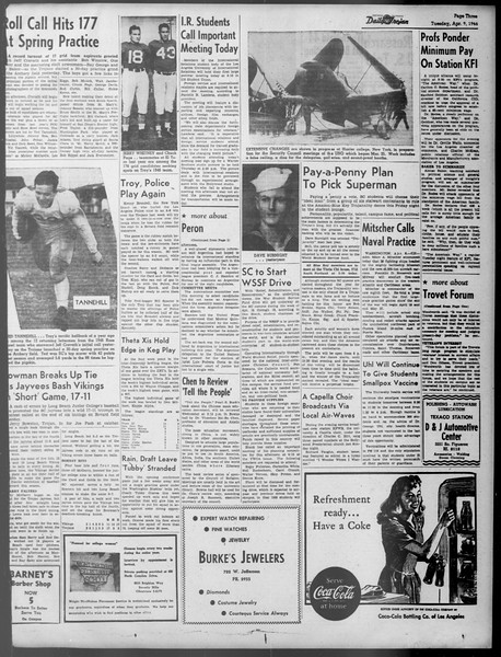 Daily Trojan, Vol. 37, No. 102, April 09, 1946