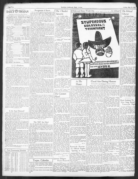 Daily Trojan, Vol. 24, No. 147, May 19, 1933