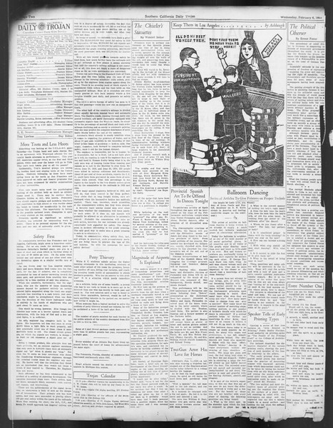 Daily Trojan, Vol. 24, No. 81, February 08, 1933