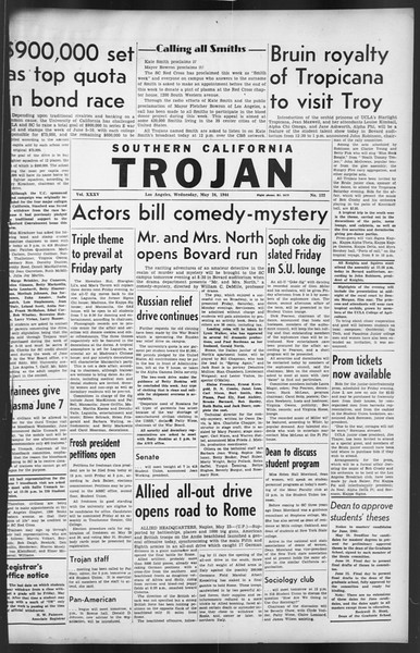The Trojan, Vol. 35, No. 122, May 24, 1944