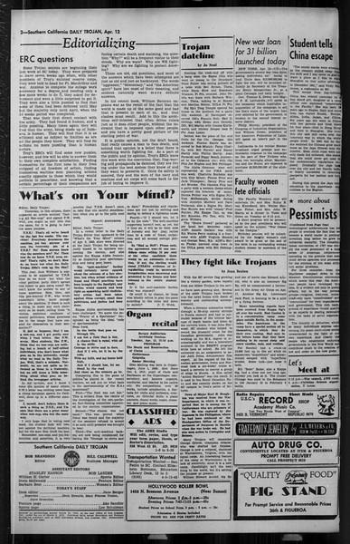 Daily Trojan, Vol. 34, No. 124, April 12, 1943