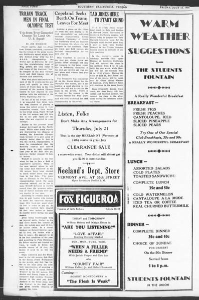 Southern California Trojan, Vol. 11, No. 8, July 15, 1932