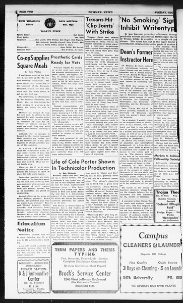 Summer News, Vol. 1, No. 20, August 13, 1946