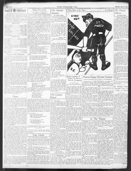 Daily Trojan, Vol. 24, No. 119, April 03, 1933